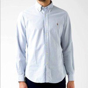 Men's Polo Striped Oxford Dress Shirt